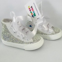 Tênis All Star Cano Alto Swarovski