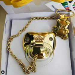 Chupeta Dourada Coroinha c/ Prendedor