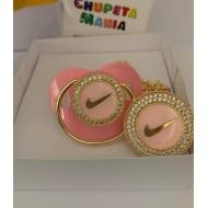 Chupeta Nike Rosa c/ Prendedor