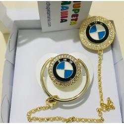 Chupeta BMW Branca c/ Prendedor