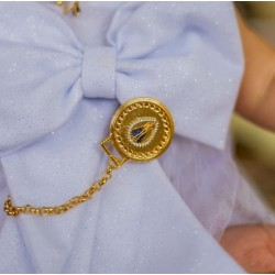 Chupeta Coroa Rolex c/ Prendedor Nossa Senhora