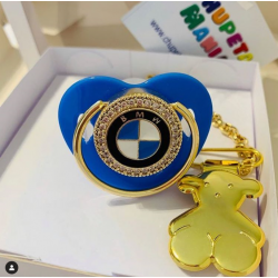 Chupeta BMW Azul c/ Prendedor Ursinho