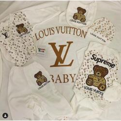 Saída Maternidade Louis Vuitton Ursinho